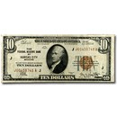 1929 (J-Kansas City) $10 Brown Seal FRBN XF