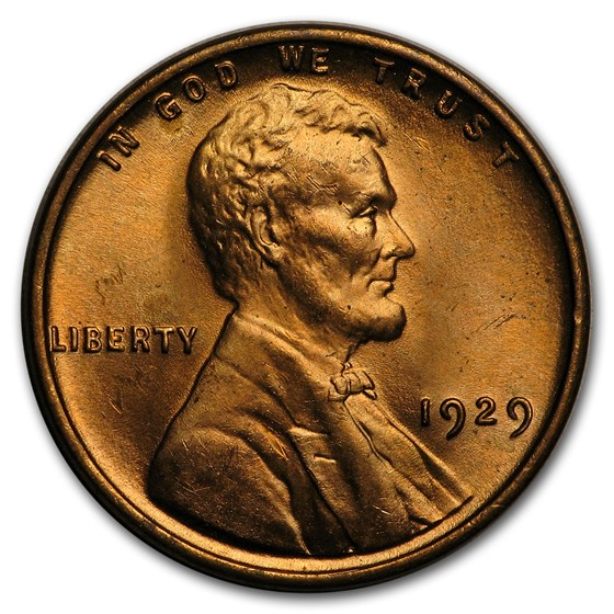 1929 Lincoln Cent BU (Red)