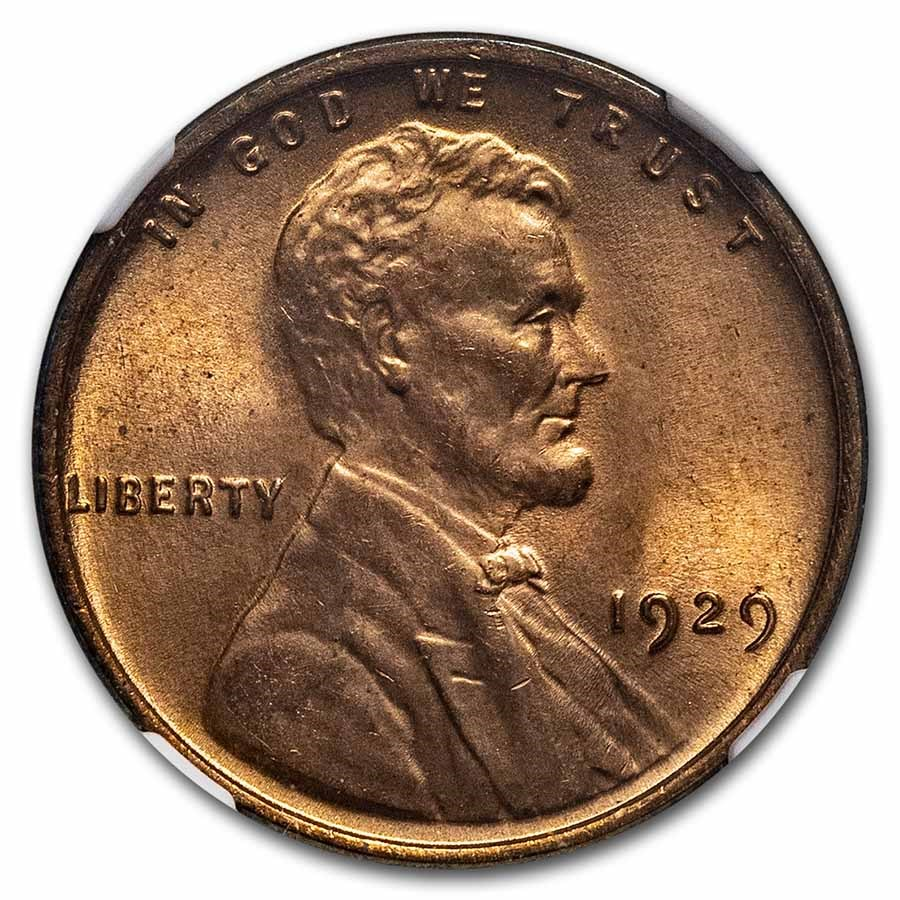 1929 Lincoln Cent MS-65 NGC (Red)
