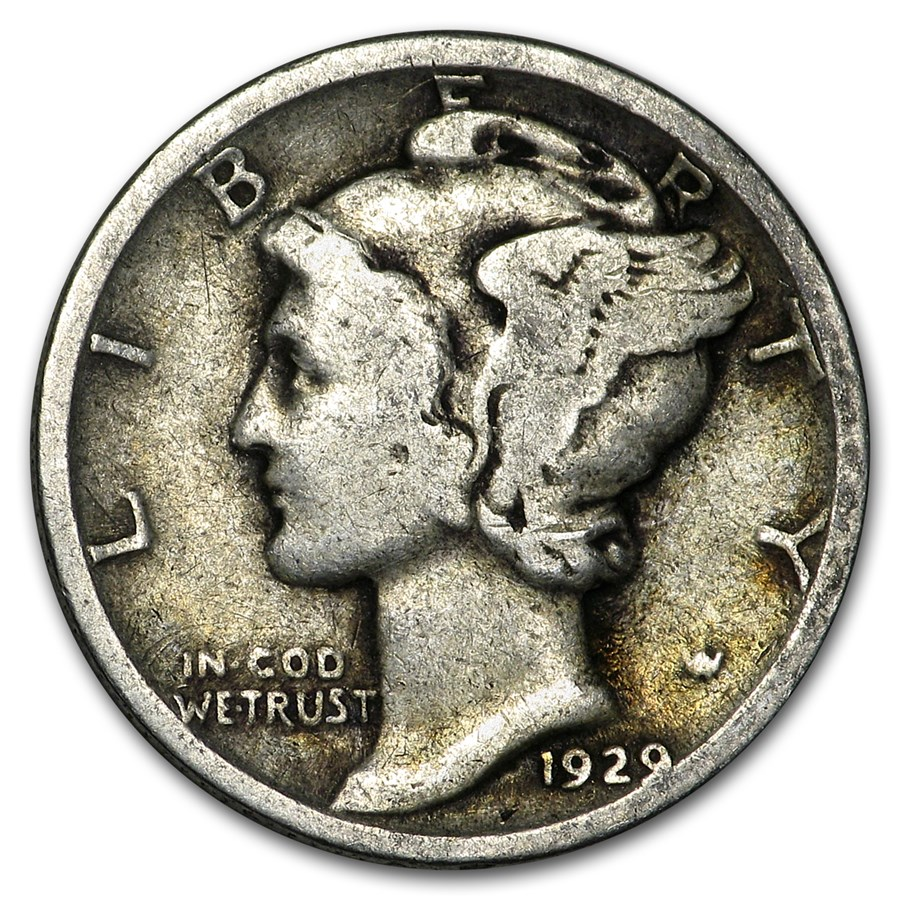 1929 Mercury Dime Good/VF