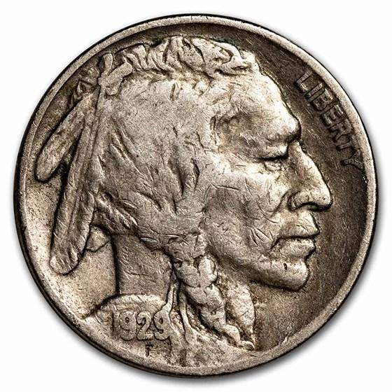 1929-S Buffalo Nickel Fine