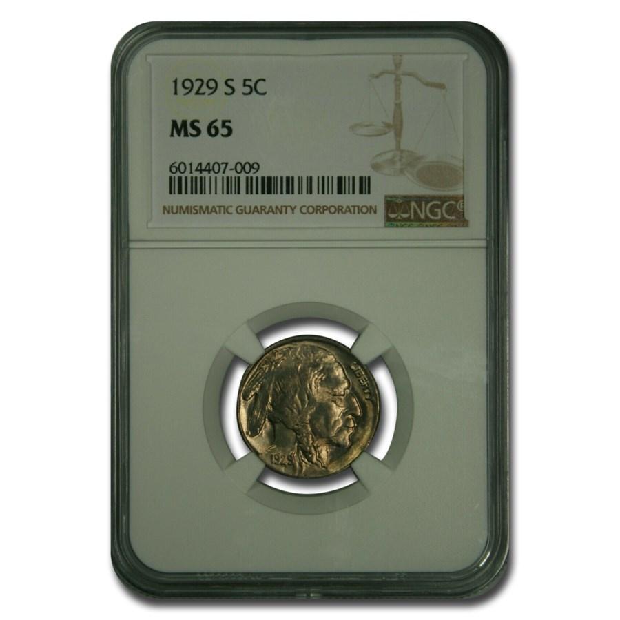 1929-S Buffalo Nickel MS-65 NGC