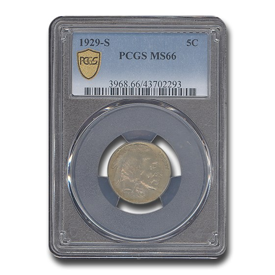 1929-S Buffalo Nickel MS-66 PCGS