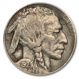 1929-S Buffalo Nickel XF