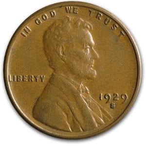 1929-S Lincoln Cent AU