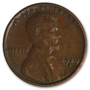 1929-S Lincoln Cent XF