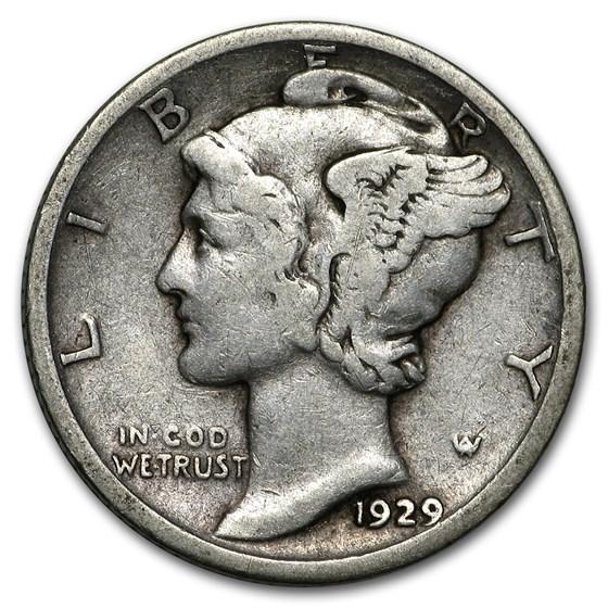 1929-S Mercury Dime Good/Fine