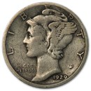 1929-S Mercury Dime VF