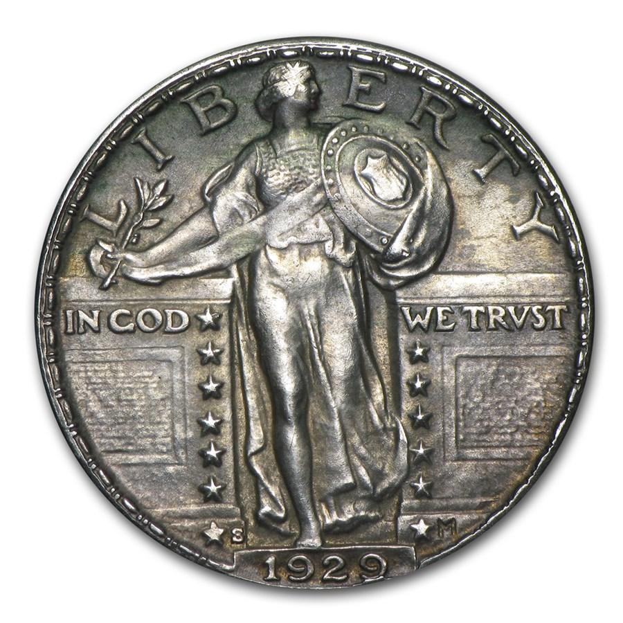 1929-S Standing Liberty Quarter AU