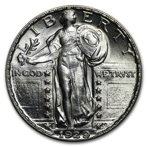 1929-S Standing Liberty Quarter BU