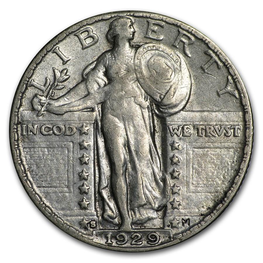 1929-S Standing Liberty Quarter XF