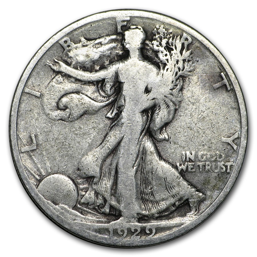 1929-S Walking Liberty Half Dollar Good/VG