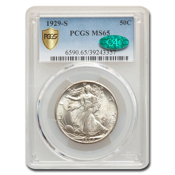 1929-S Walking Liberty Half Dollar MS-65 PCGS CAC