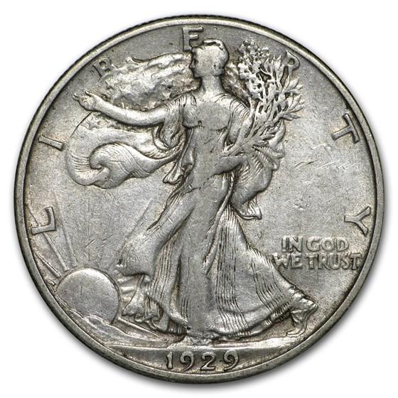 1929-S Walking Liberty Half Dollar VF