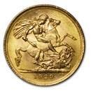 1929-SA South Africa Gold Sovereign George V BU