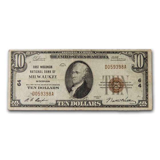 1929 Type 1 $10 Milwaukee, WI VF (Fr#TBD) CH#64