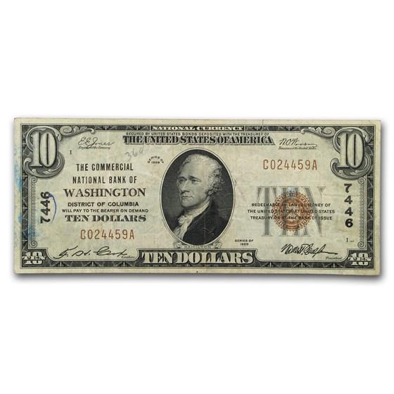 1929 Type 1 $10 Washington, DC VF (CH#7446)