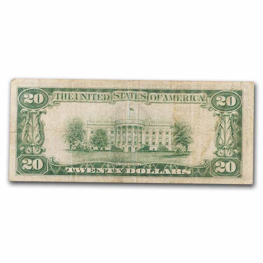 1929 Type 1 $20 Milwaukee, WI VF (Fr#TBD) CH#64