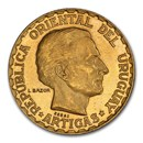 1930-A Uruguay Gold Essai 5 Pesos SP-64 PCGS