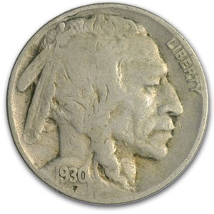 1930 Buffalo Nickel Fine