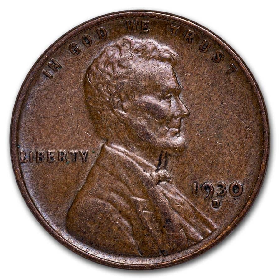 1930-D Lincoln Cent AU