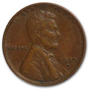 1930-D Lincoln Cent XF