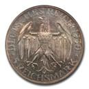 1930-G Germany Weimar Republic Silver 5 Reichsmark MS-61 PCGS