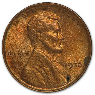 1930 Lincoln Cent BU (Brown)