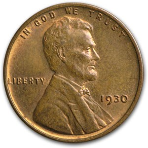 1930 Lincoln Cent BU (Red/Brown)