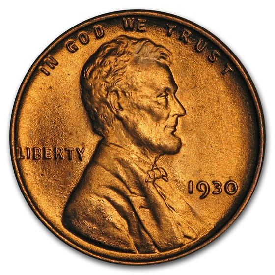1930 Lincoln Cent BU (Red)