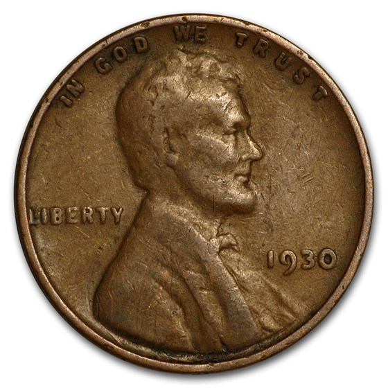 1930 Lincoln Cent Good/XF