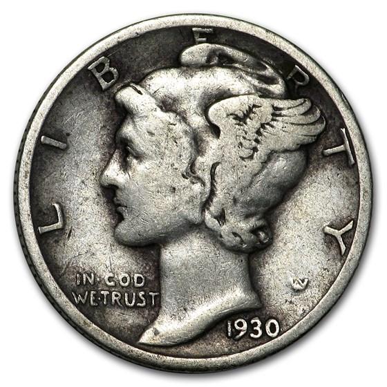 1930 Mercury Dime Good/VF