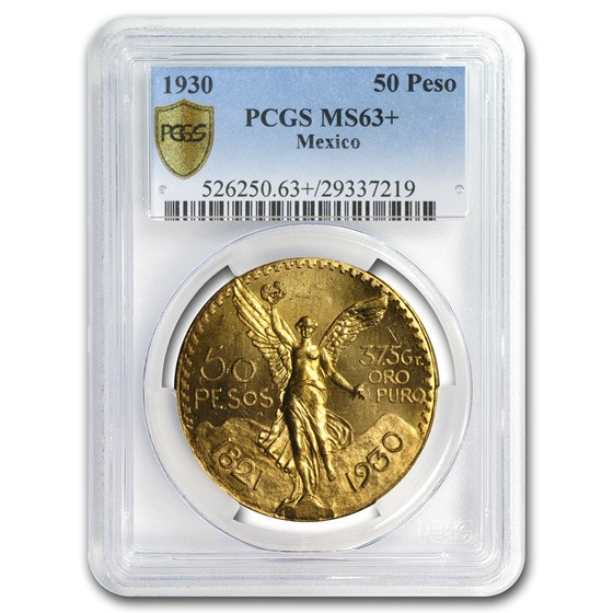 1930 Mexico Gold 50 Pesos MS-63+ PCGS
