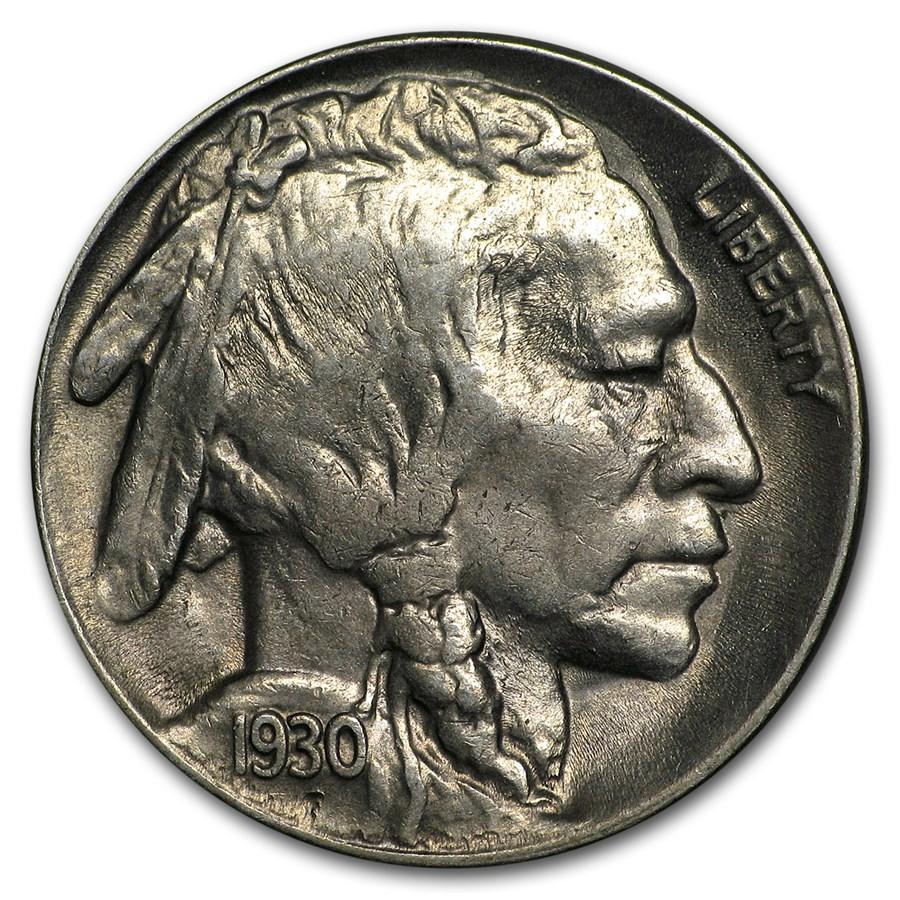 1930-S Buffalo Nickel AU