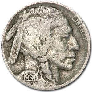 1930-S Buffalo Nickel Good/VG