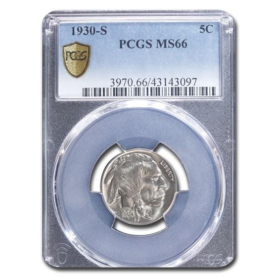 1930-S Buffalo Nickel MS-66 PCGS