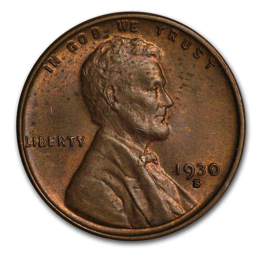 1930-S Lincoln Cent BU (Brown)