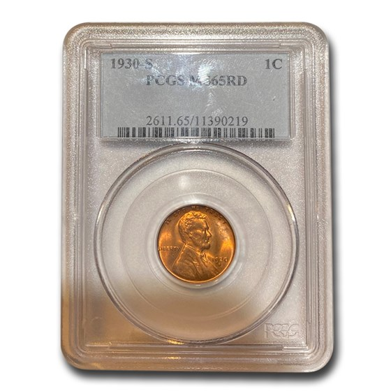 1930-S Lincoln Cent MS-65 PCGS (Red)