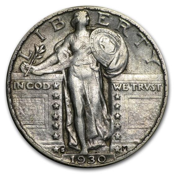 1930-S Standing Liberty Quarter AU