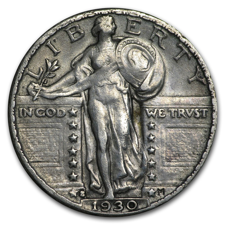1930-S Standing Liberty Quarter XF