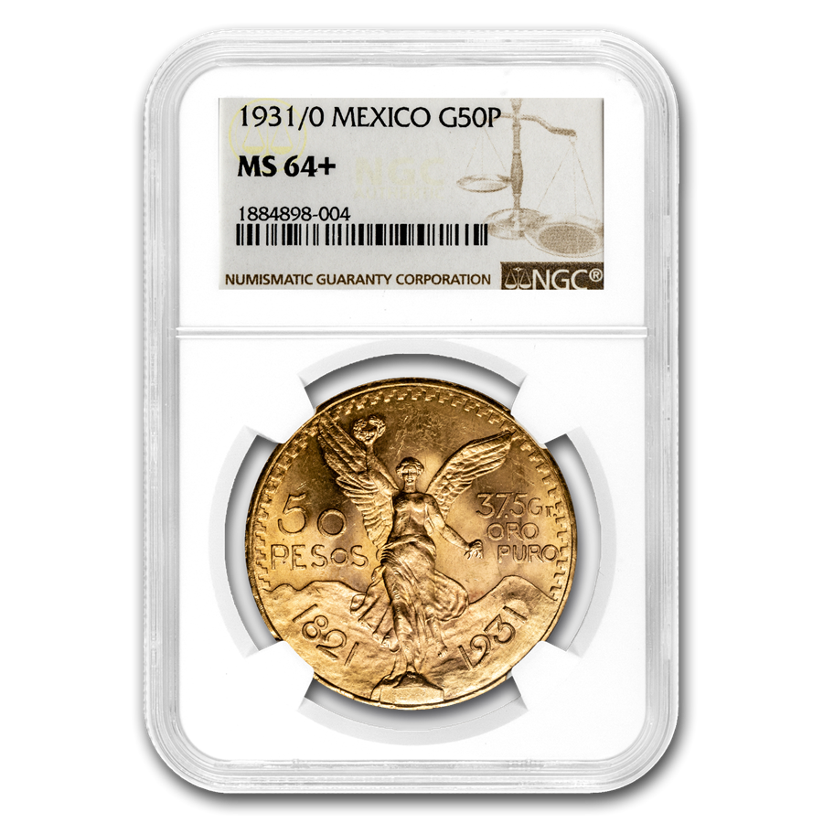 1931/0 Mexico Gold 50 Pesos MS-64+ NGC