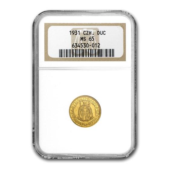 1931 Czechoslovakia Gold Dukat MS-65 NGC