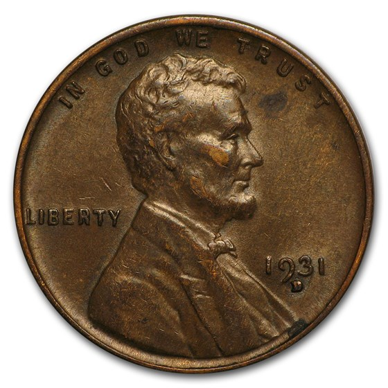 1931-D Lincoln Cent AU