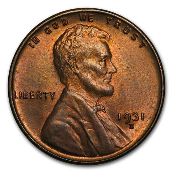 1931-D Lincoln Cent BU (Brown)