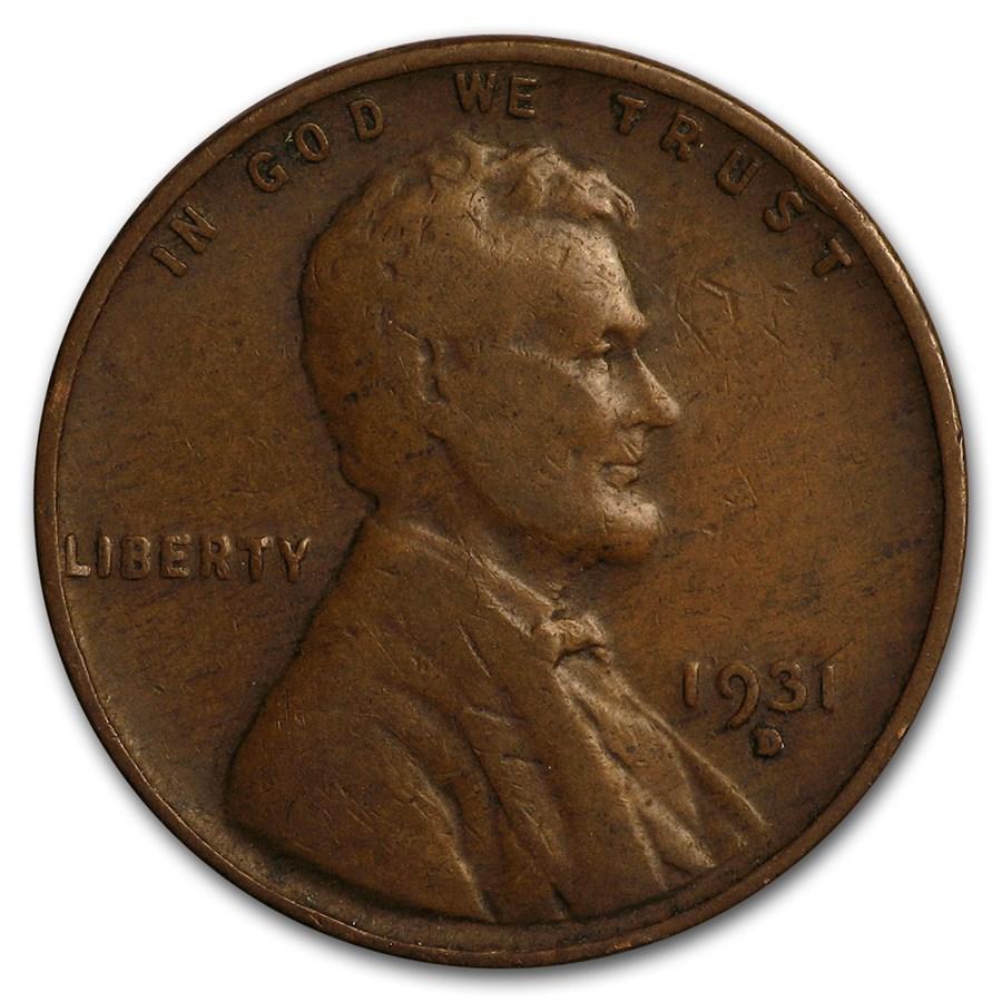 1931-D Lincoln Cent Fine