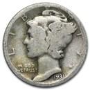 1931-D Mercury Dime AG