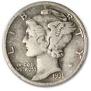 1931-D Mercury Dime Fine