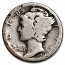 1931-D Mercury Dime Good