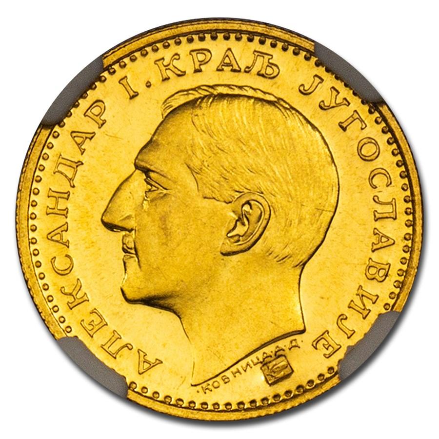 1931-K Yugoslavia Gold Dukat Alexander I MS-66 NGC