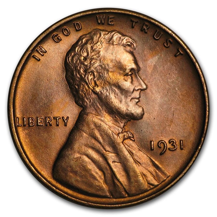 1931 Lincoln Cent AU